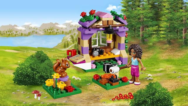 Nhà Trên Núi Của cô bé Andrea trong bộ xếp hình Lego 41031 Andrea's Mountain Hut