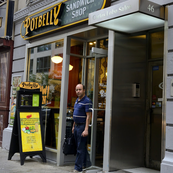 A customer exits Potbelly in New York