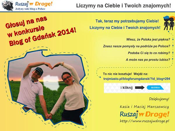 Głosuj na Ruszaj w Drogę w Blog of Gdańsk
