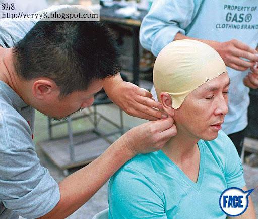 因為用到荷里活特技大師,甄子丹事前要坐定造頭形倒模,方便後期製成 CG替身。