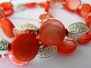 biżuteria z półfabrykatów - landrynkowa masa perłowa