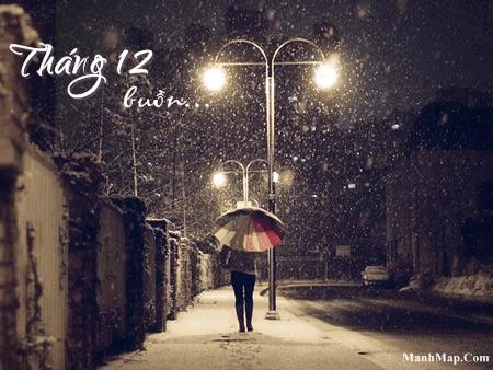 Thơ tháng 12 với tâm trạng buồn
