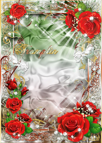 Рамка  для фото с розами  - Я хочу посвятить тебе все, что сумел сохранить в своем сердце