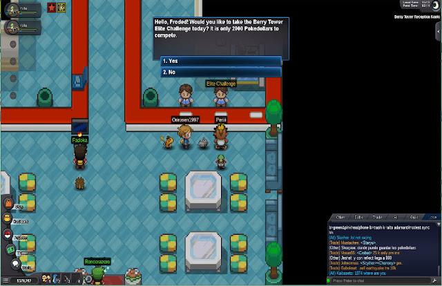 Hình ảnh gameplay trong Pokemon Revolution online