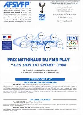 dipl me d 39 honneur au prix national du fair play 2008 a s mantaise aviron. Black Bedroom Furniture Sets. Home Design Ideas