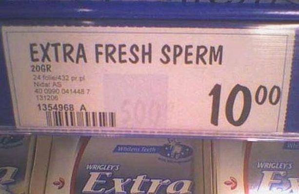 Extra Fresh Sperm