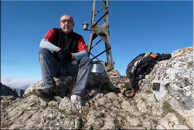 Peña del Castillo mendiaren gailurra 1.432 m.  --  2014ko otsailaren 22an