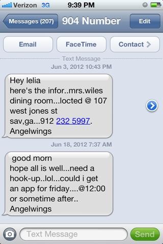 Hook up messages