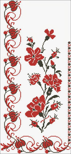 Tablecloths Flower 1 Counted Cross Stitch Patterns And Charts