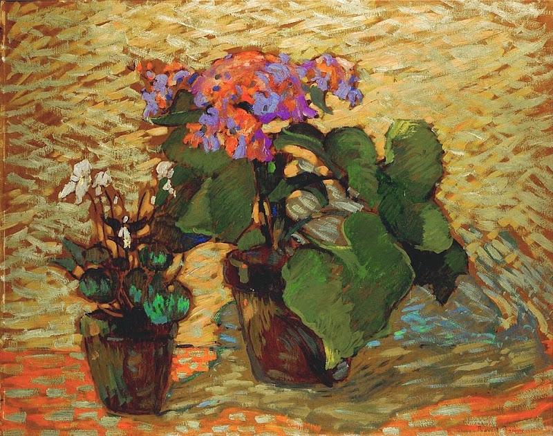 Robert Antoine Pinchon - Pots de géraniums