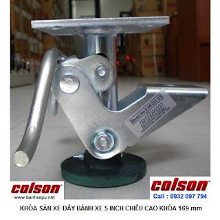 Khóa sàn xe đẩy Colson Floor Lock Brake tổng chiều cao 169mm | 6253x5