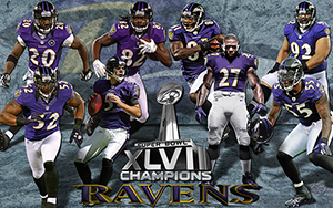 Baltimore Ravens Super Bowl Champions Team Wallpaper