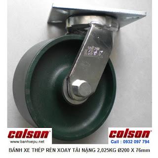 Bánh xe đẩy hàng công nghiệp Colson chịu tải nặng 2,025kg| 7-8679-279