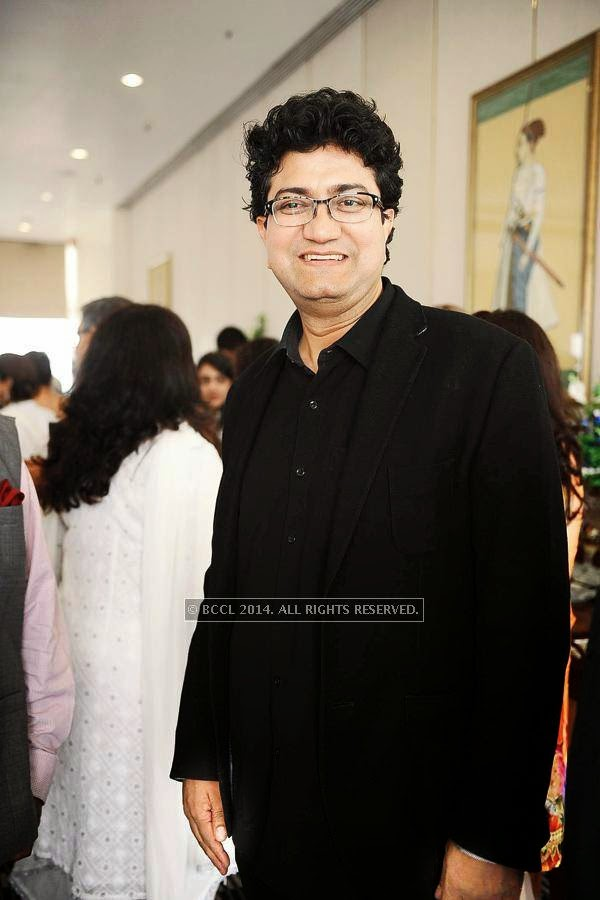 Prasoon Joshi during the book launch by James Patterson and Ashwin Sanghi, held at the Rooftop, Oberoi Trident, in Mumbai.