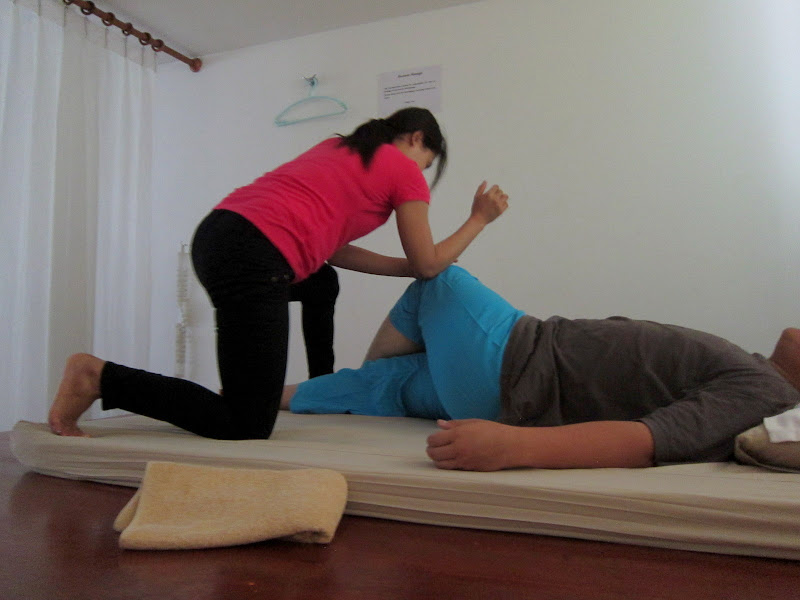 Traditional Thai massage method