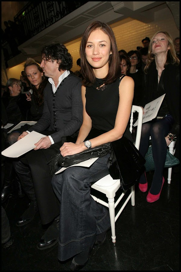 Olga Kurylenko @ Paris Fashion Week:celebrities,fashion girl0