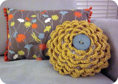 Blog de Goanna: Cojines Redondos de Crochet