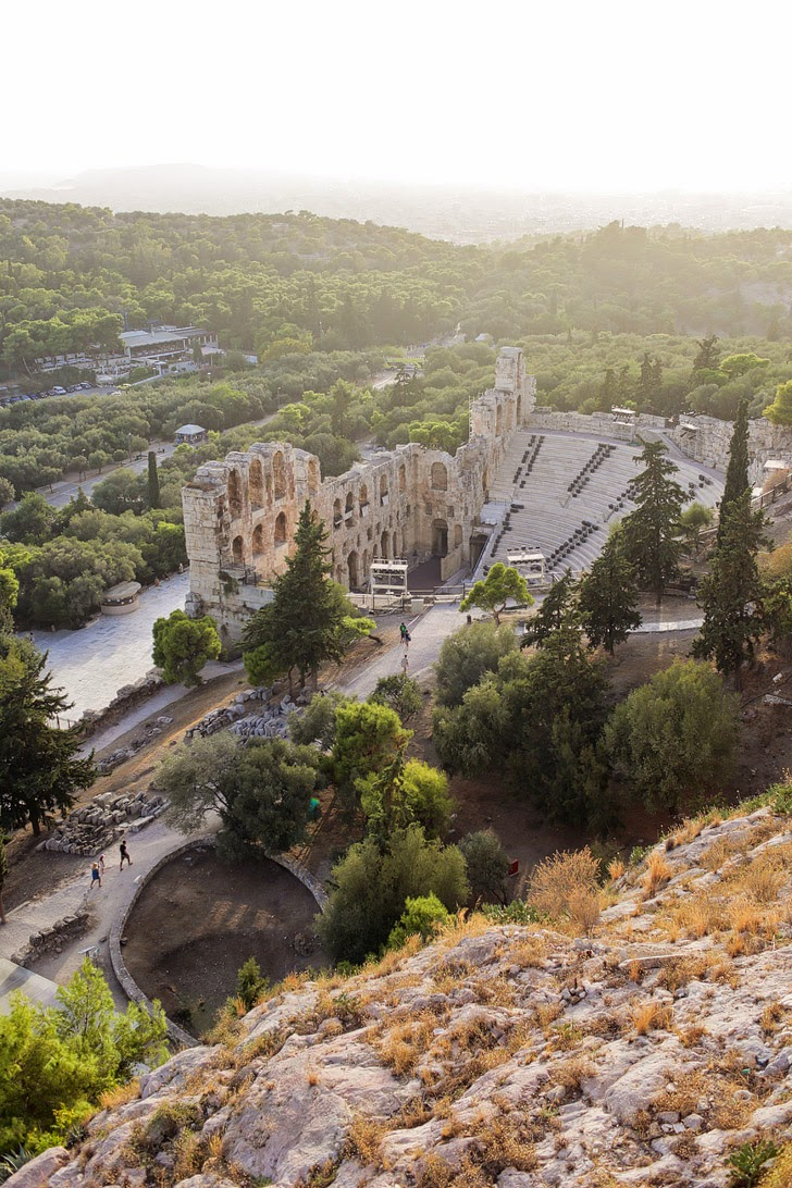 Odeon of Herodes Atticus in Acropolis Athens.