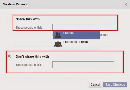 Cập nhật status facebook chỉ cho một vài người xem 3