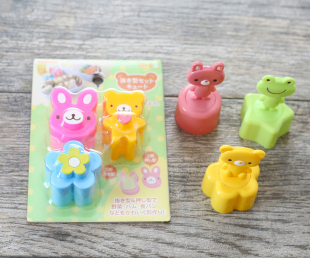 photo of character shaped bread cutters