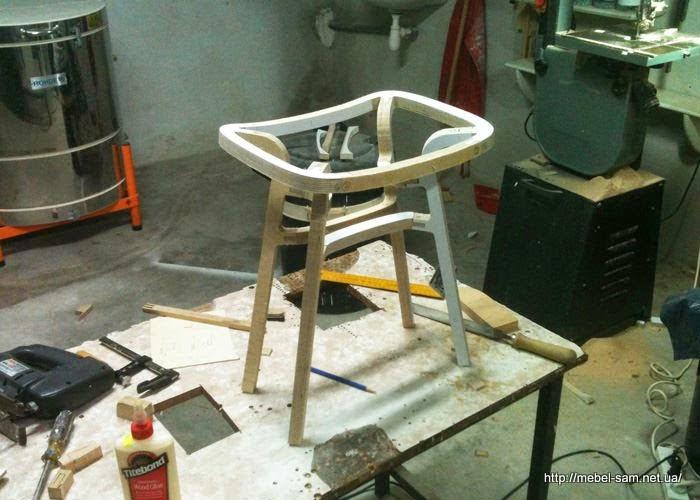 Сборка фанерного стула