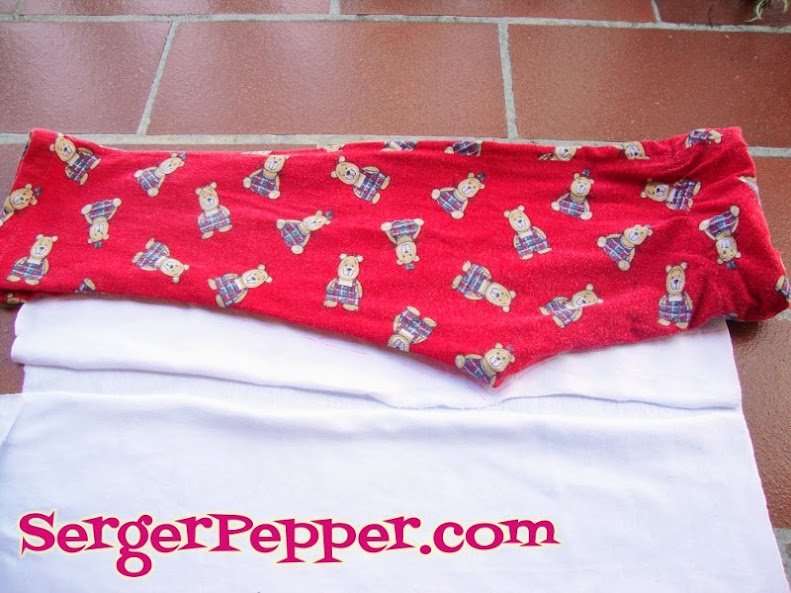 Serger Pepper - Ruffled Leggings - drafting