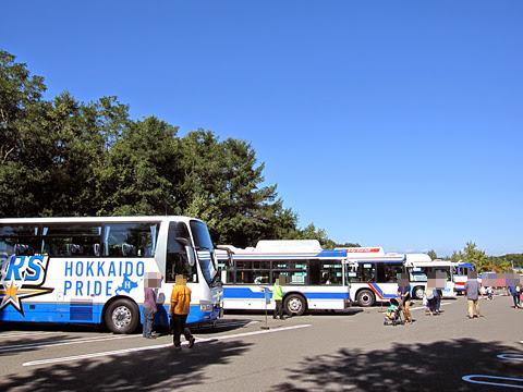 北海道バスフェスティバル2014 屋外 バス展示スペース
