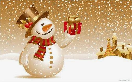 Sfondi di Natale Pupazzo di neve