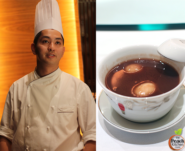 Desserts at Solaire: Red Lantern's Chef Lo Ka Cheung Sam and Glutinous Rice Balls with Red Bean Cream