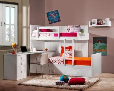 Dormitorios juveniles y habitaciones infantiles con dos camas - Habitaciones infantiles dobles poco espacio ...