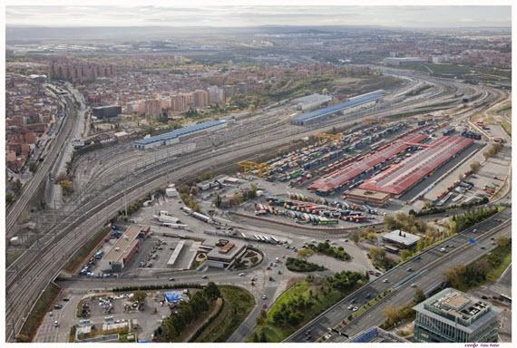 instalaciones intermodales de Adif de Madrid Abroñigal