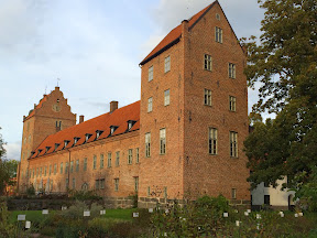 Backaskog castle in red bricks