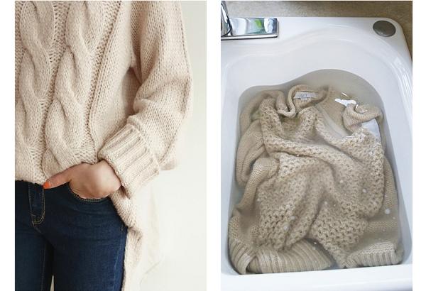 Những bước giặt áo len không bị dão