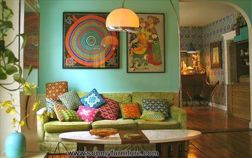 Phòng khách tươi mới đón mùa xuân hè_tin tức nội thất-6