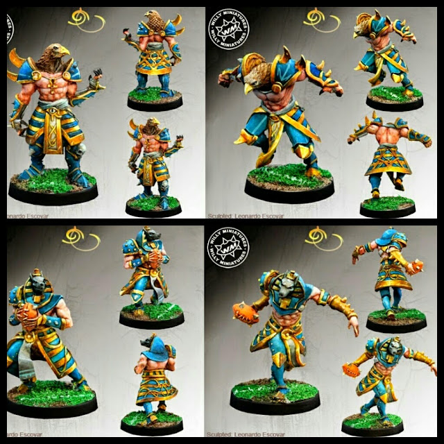 Ra y Anubis de Willy miniatures