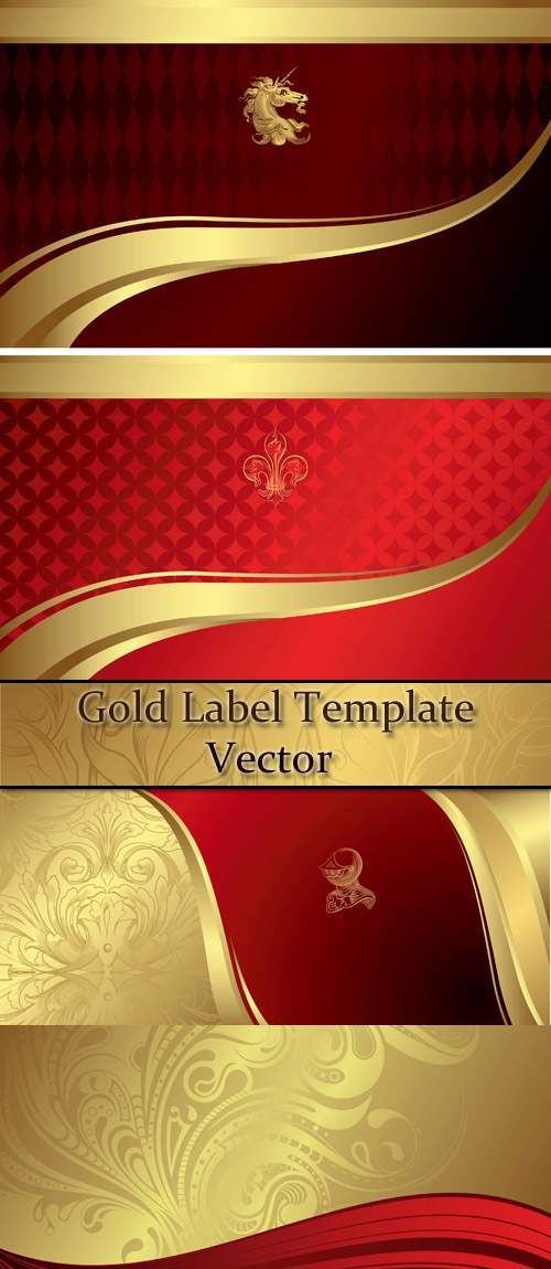 Stock: Food and Drink Gold Label Template 8