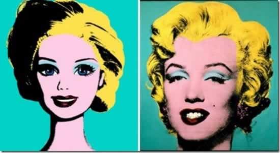 Barbie y Marilyn Monroe, al estilo Warhol