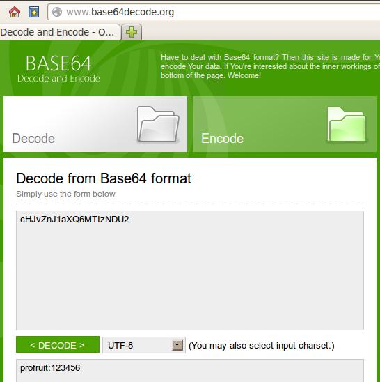 Base64 decoder