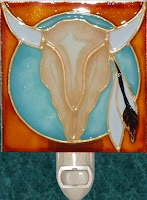 steer cow skull on turquoise