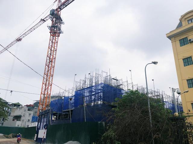 Tiến độ xây dựng chung cư Hateco La roma Chùa Láng