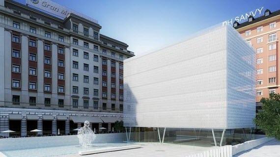 Un nuevo edificio con museo público del Banco de Madrid en la plaza de Colón