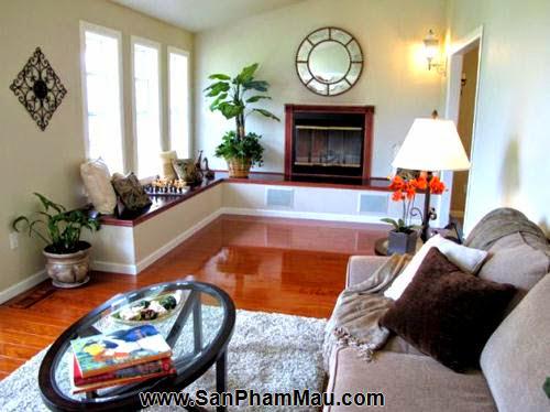 Bí quyết trang trí phòng khách dài và hẹp - Tủ âm tường-2