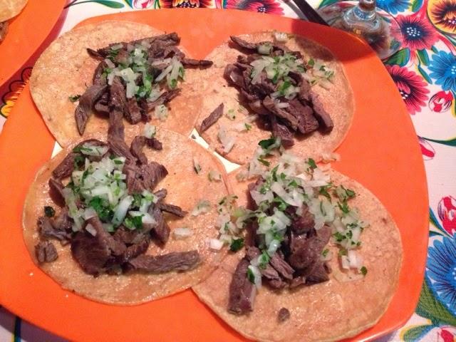 Tacos arranchera La taqueria de barcelona