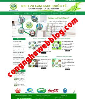 Template blogger công ty vệ sinh môi trường xanh