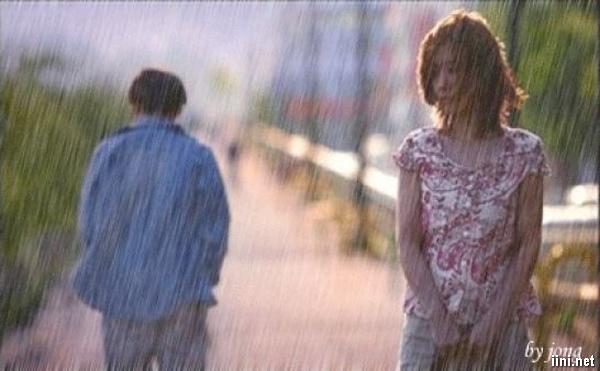 ảnh chia tay trong mưa