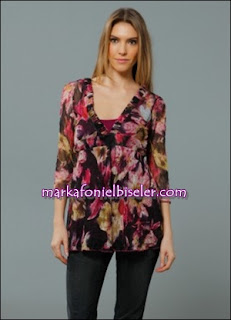 markafoni Marks and Spencer mor gül kurusu tunik bluz modelleri