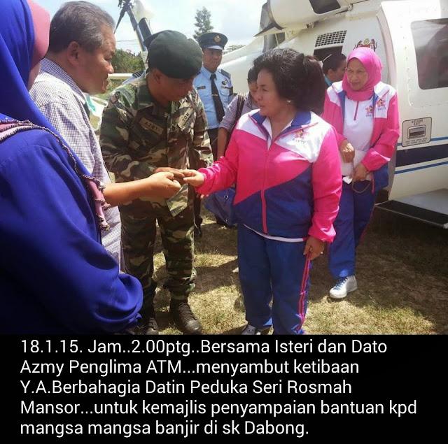 Ibu Rosmah Datang Ke Kuala Krai