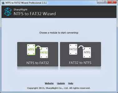 NTFS to FAT32 Wizard Pro 2.4