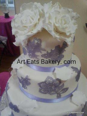 3 Tier Wedding Cakes 33 Luxury Edible custom sugar flowers