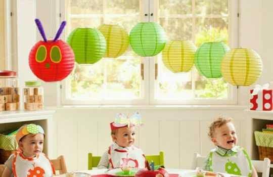 Uso de lamparas de papel para fiestas infantiles 2